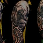 Realist Lion & Anchor Sleeve Tattoo
